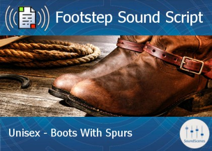 footstep script – unisex – boots with spurs