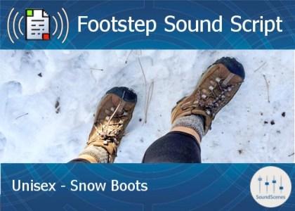 footstep script – unisex – snow boots