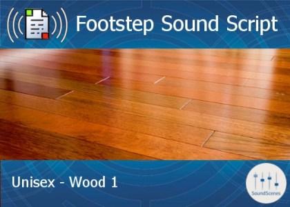 footstep script - unisex - wood 1