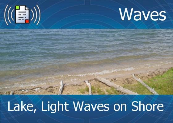 km-atmo-waves - lake, light waves on shore