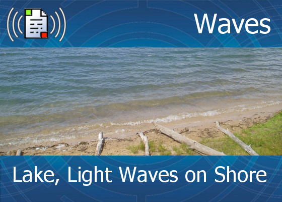 km-atmo-waves – lake, light waves on shore