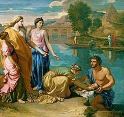 Moses rescued over Nile