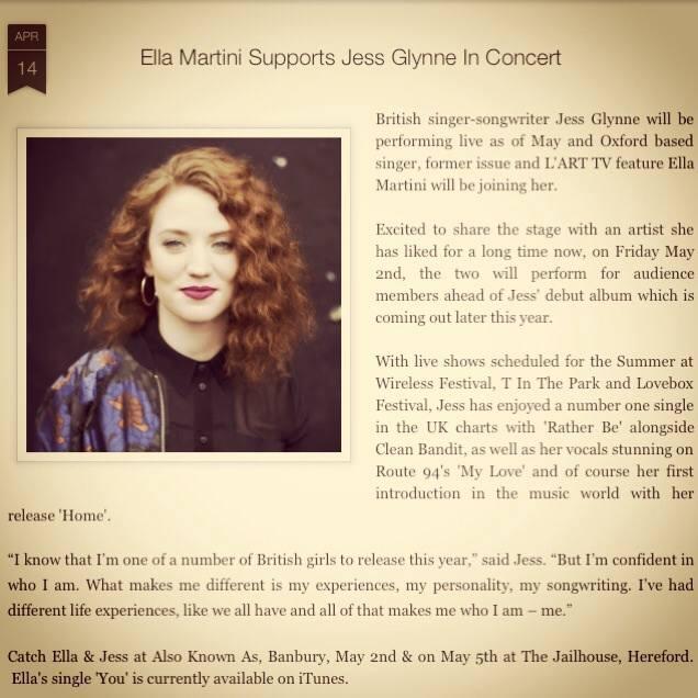 Throwback – Ella Martini – Jess Glynne – Clean Bandit – What Else?