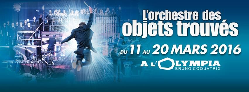 Nouvelle de La Semaine: L'ORCHESTRE DES OBJETS TROUVÉS, par les créateurs du spectacle STOMP, à L'Olympia