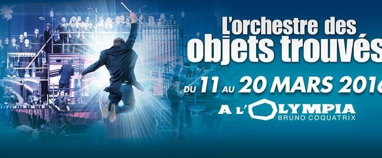 Nouvelle de La Semaine: L'ORCHESTRE DES OBJETS TROUVÉS, par les créateurs du spectacle STOMP, à L'Olympia 1