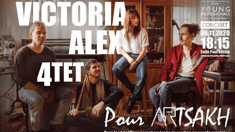 La formation franco-arménienne Victoria Alex Quartet organise un concert caritatif le 6 novembre