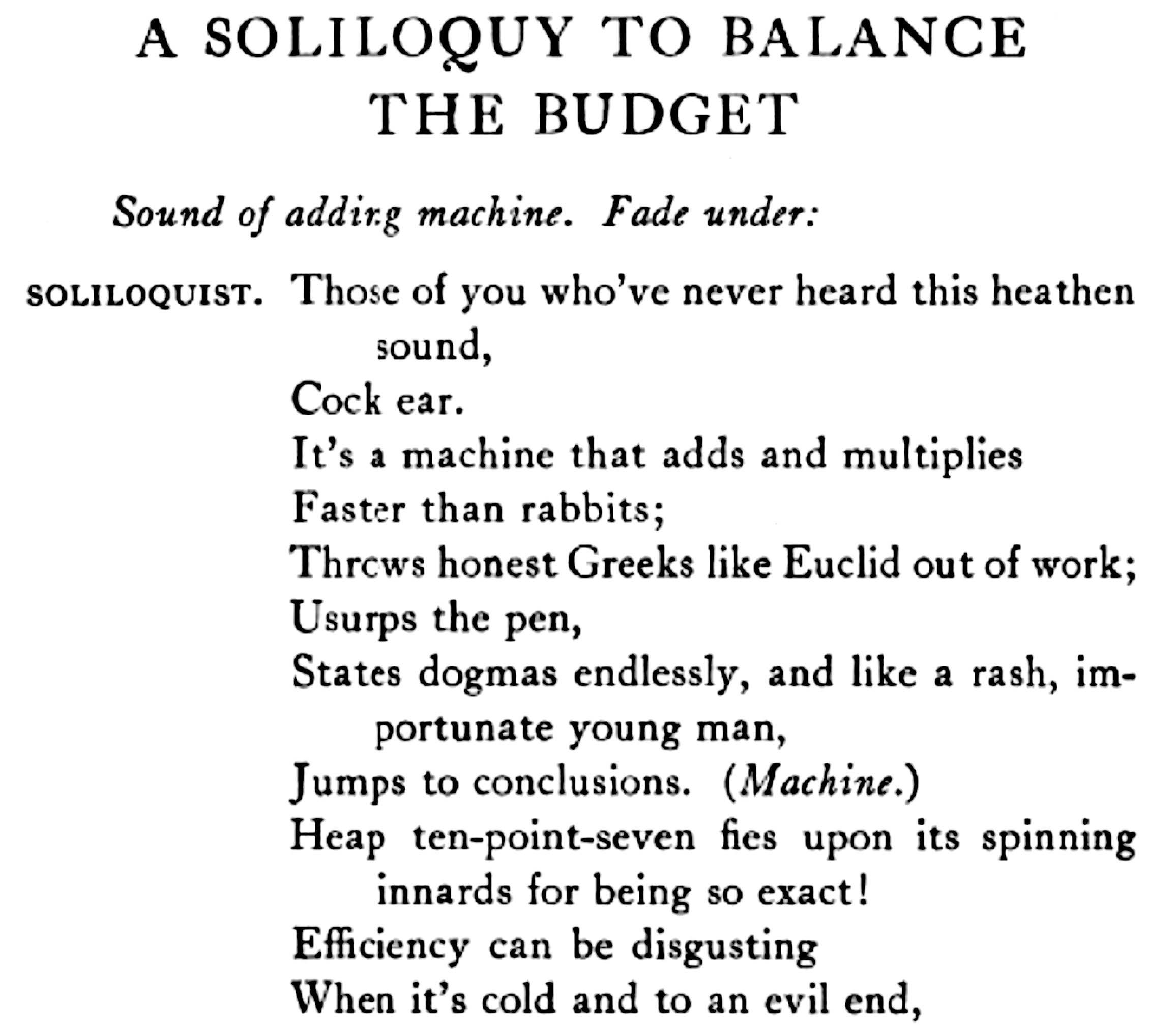 Soliloquy Excerpt Sounding Out!
