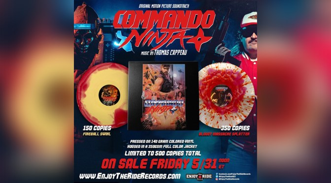 Thomas Cappeau's Synthwave 'Commando Ninja' Score Comes To Vinyl and Cassette!