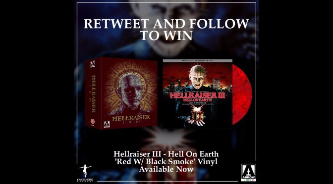 Giveaway!  Want To Win The Hellraiser III Vinyl  and Movie Trilogy Blu-Ray Box Set?