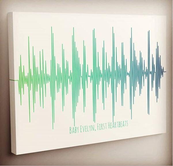 soundwave art of baby's heartbeat