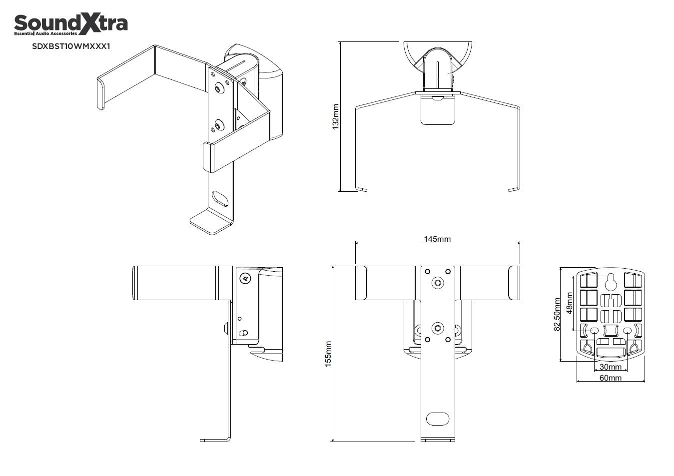 Wandhalter für Bose SoundTouch 10 schwarz