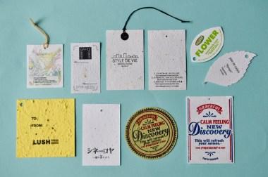 商品のブランドタグや下げ札をシードペーパーで作成しませんか
