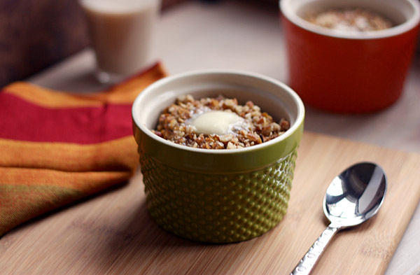 Baked pumpkin pie oatmeal 1