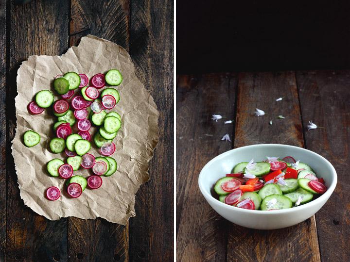 Ingredients for Cucumber Radish Salad
