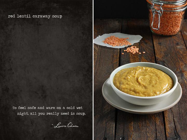 Red Lentil Caraway Soup