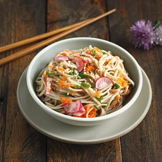 Soba Noodle Salad with Orange Miso Vinaigrette