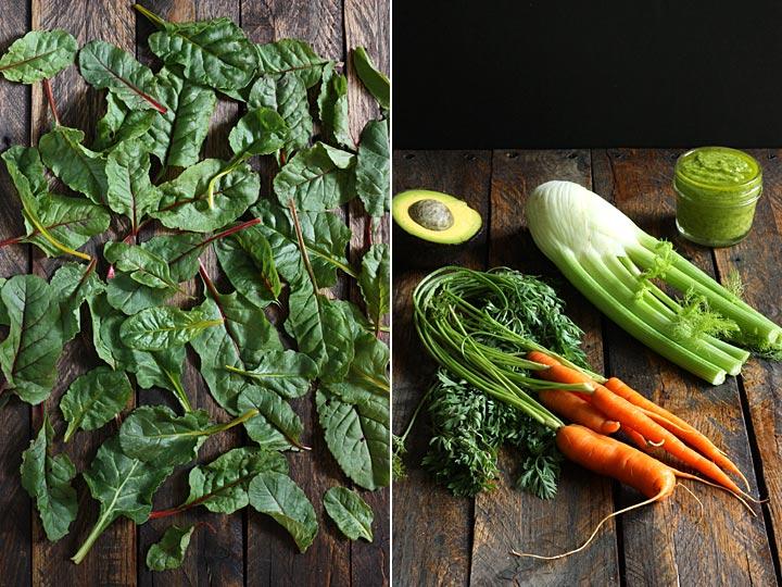 Two Summer Salads - Baby Swiss Chard & Farro Salad