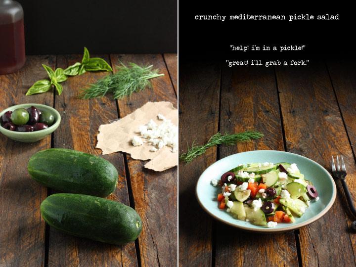 Two Summer Salads - Crunchy Mediterranean Cucumber Salad