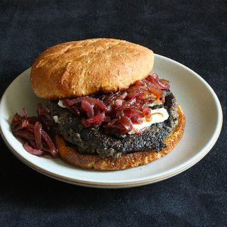 Portobello blue cheese burgers