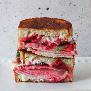 Turkey Cranberry Boursin Grilled Cheese