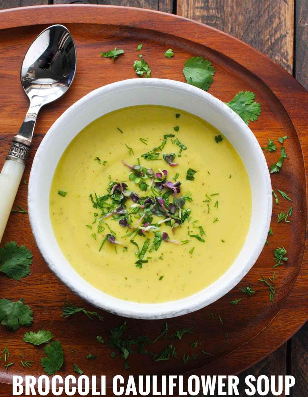 Broccoli Cauliflower Soup   Recipe at SoupAddict.com