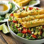 Mango Avocado Taquitos Salad Bowl | SoupAddict.com
