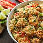 Oven Fried Shrimp with Thai Coconut Ramen Noodle Bowl | SoupAddict.com