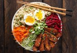 Smoky Tempeh Vegetable and Rice Bowl from SoupAddict.com