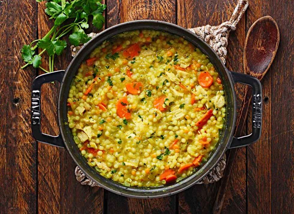 Cold-fighting Couscous Chicken Soup | Recipe at SoupAddict.com
