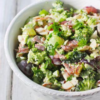 Broccoli Grape Salad Lightened Up   SoupAddict.com