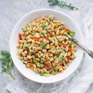 Herbed White Bean Picnic Salad. Recipe at SoupAddict.com