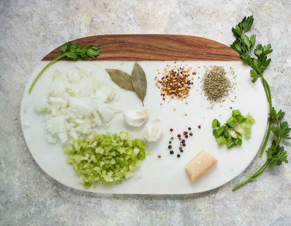 Herbs and spices for Instant Pot Italian Meatball Soup with Fregola Pastas