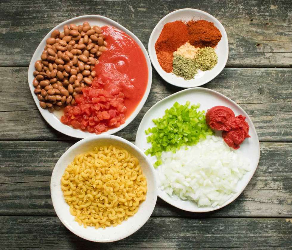 Ingredients for Instant Pot Chili Mac with Turkey