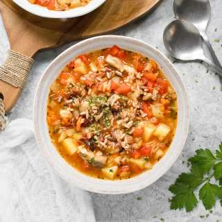 Hearty Vegetable Wild Rice Soup