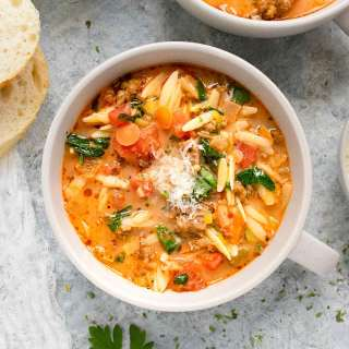 Italian Sausage Orzo Soup | Recipe at SoupAddict.com