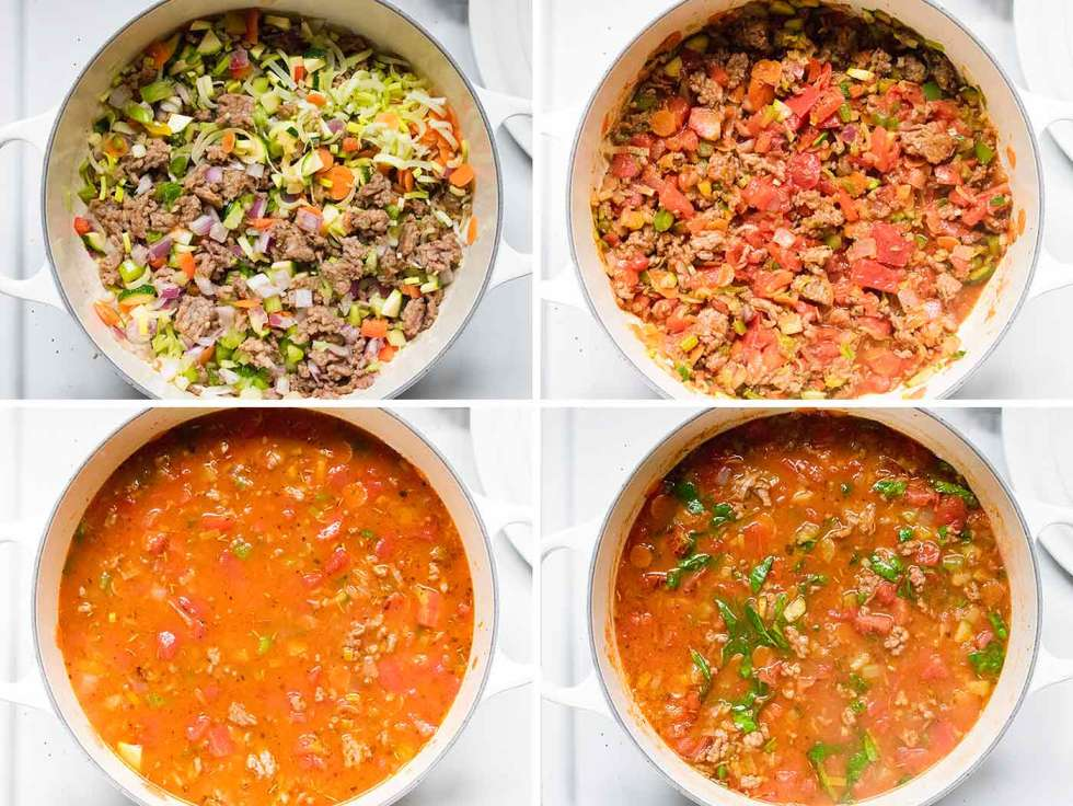 Steps for making Italian Sausage Orzo Soup