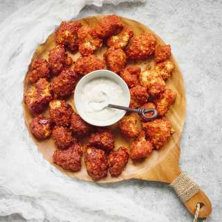 Sweet & Spicy Cauliflower Bites - Two Ways   Recipe at SoupAddict.com