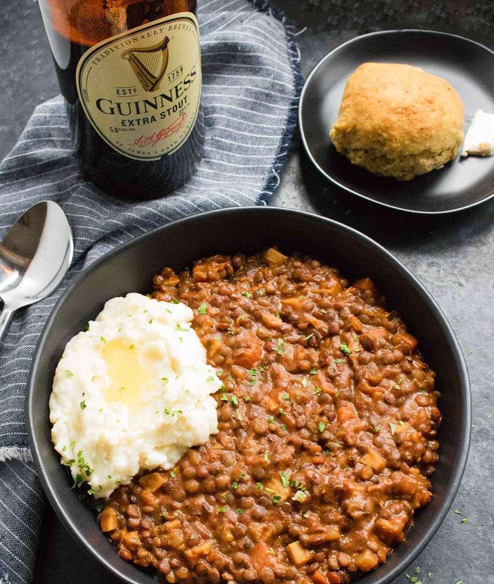 Vegetarian Irish Stew with Guinness