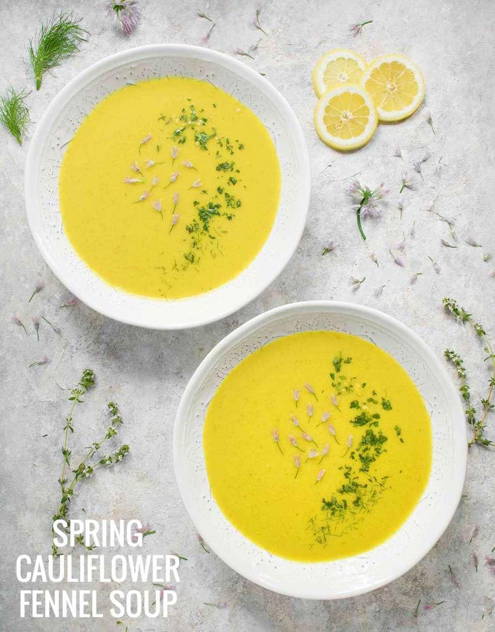 Spring Cauliflower Fennel Soup - Recipe at SoupAddict.com