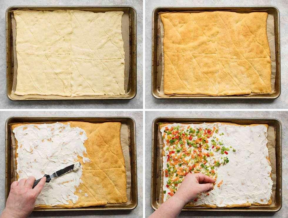 Steps to make Ranch Veggie Pizza Appetizer