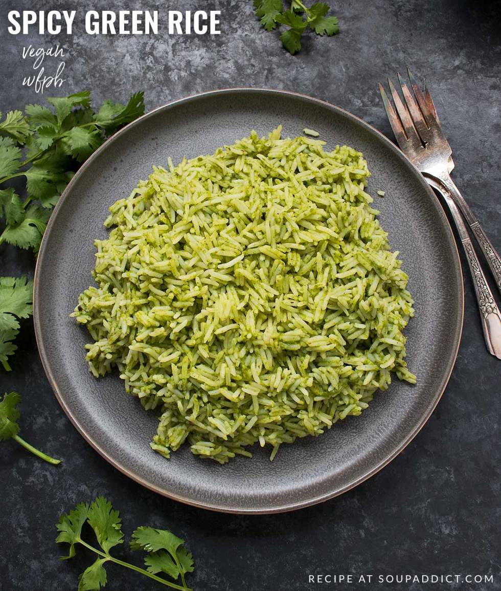Spicy Green Rice - Recipe at SoupAddict.com