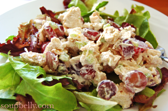 Chicken Salad with Red Grapes and Walnuts
