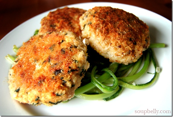 Homemade Chicken Patties with Chives, Ginger and Garlic.