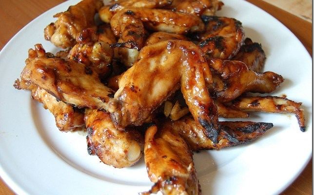 Grilled Chicken Wings with Hoisin Sauce and Honey
