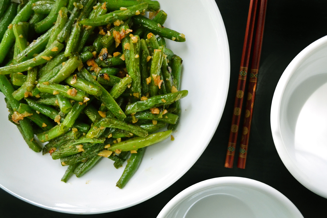 Chinese stir fried green beans with garlic - Soupbelly