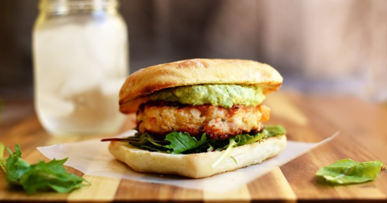 Shrimp Burgers with Avocado Aioli