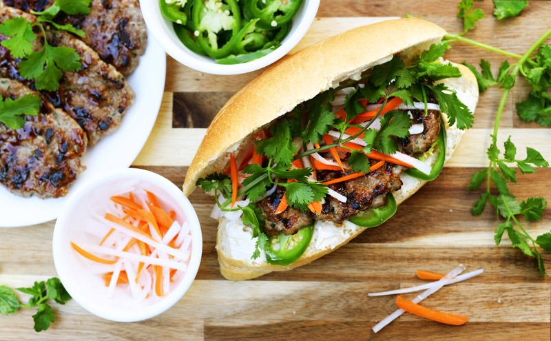 Banh Mi with Lemongrass Meatballs