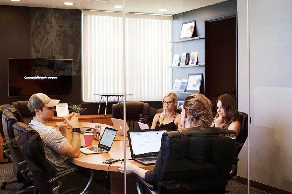 Reunião de equipa de trabalho