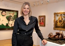 Kate Flitcroft, AB '04, is a specialist in Christie's Silver department in London as well as an auctioneer. (Photo: Jennifer Weisbord, BFA '92)