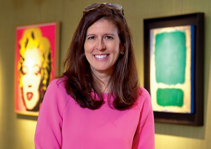 At Christie's, Sheri Farber, BSBA '89, is a senior vice president in the chairman's ­office. (Photo: Jennifer Weisbord, BFA '92)